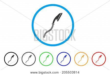 Flexible Shower rounded icon. Style is a flat flexible shower grey symbol inside light blue circle with black, gray, green, blue, red, orange color versions.