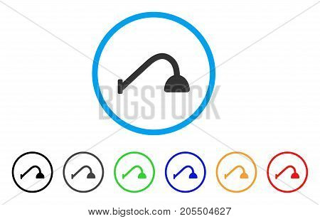 Tap Mixer rounded icon. Style is a flat tap mixer gray symbol inside light blue circle with black, gray, green, blue, red, orange versions. Vector designed for web and software interfaces.