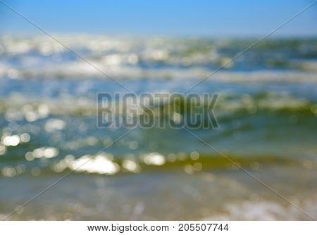 view of the sea blurred background summer day