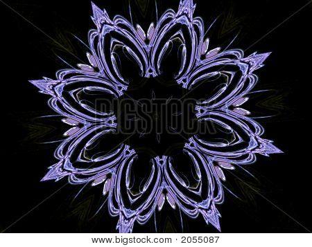 Sketchy Flower On Black