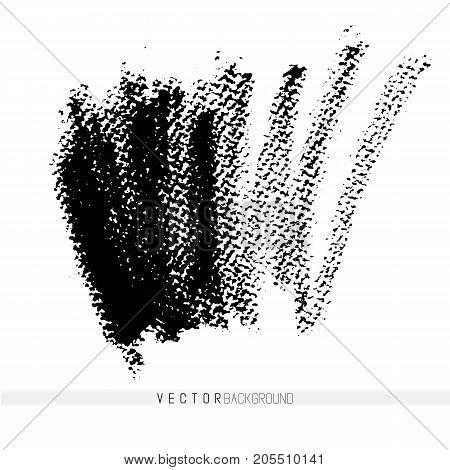 Vector hand drawn strokes as design elements. Hand drawn textured background. Crayon strokes.