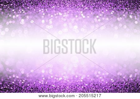 Abstract purple glitter sparkle confetti background for happy birthday party invite, Spooky kid Halloween magic trick or treat flyer, mardi gras sale, woman dance backdrop or Christmas luxury glam border