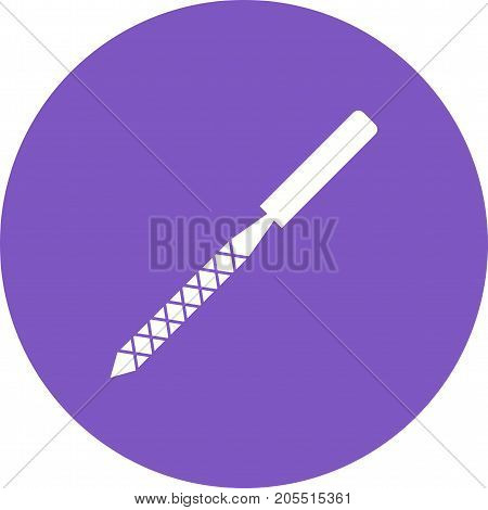 Rasp, metal, flat icon vector image. Can also be used for Hand Tools. Suitable for use on web apps, mobile apps and print media.