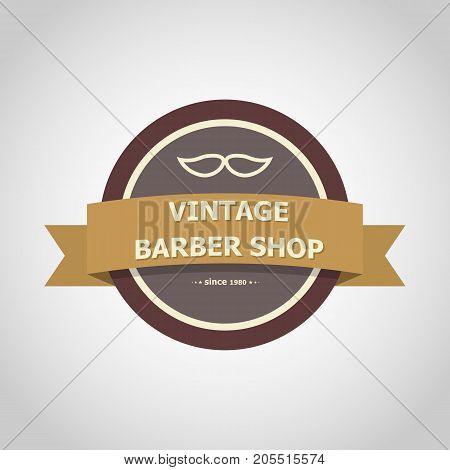 Barber shop vintage badge style, stock vector