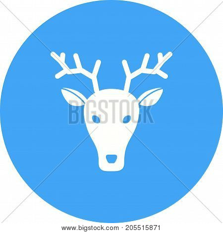 Deer, animal, face icon vector image. Can also be used for Animal Faces. Suitable for use on web apps, mobile apps and print media.