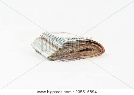 Bank Note Or  Money  Isolate On White Background