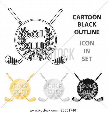 Emblem of the golf club.Golf club single icon in cartoon style vector symbol stock illustration .