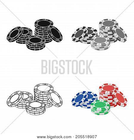 Chip, single icon in cartoon style.Chip, vector symbol stock illustration .