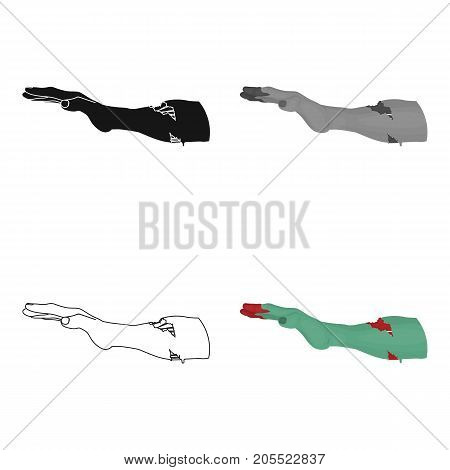 Hand, single icon in cartoon style.Hand vector symbol stock illustration .