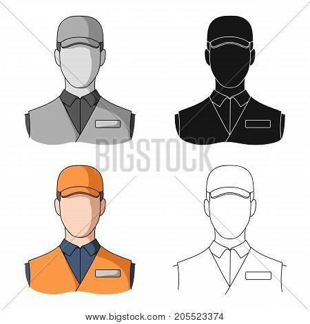 Man single icon in cartoon style.Man, vector symbol stock illustration .