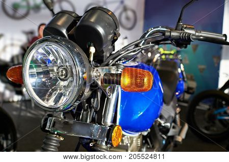 Headlight Of Road Motorcycle