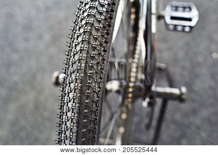 Off-road Tires On Mountain Bicycle Sports
