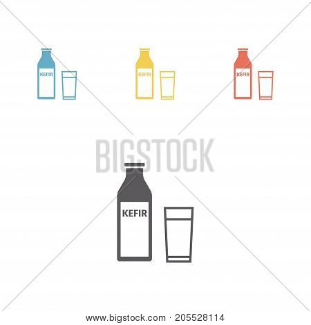 kefir in a bottle Vector signs for web