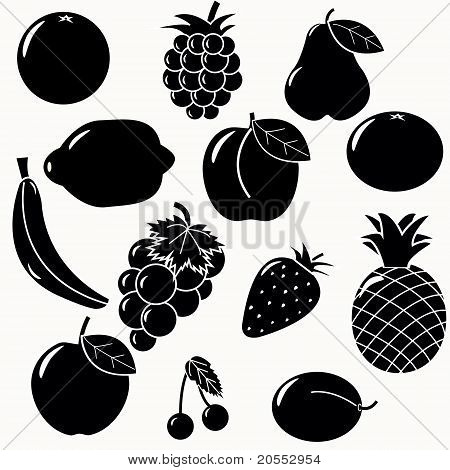 Fruits Silhouettes