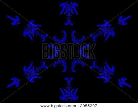 Neon Blue Snowflake