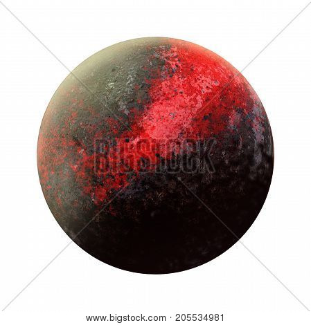 New 9 Red planet discovery. Ninth gas giant opening. Solar System - new planet. Isolated planet on white background. High resolution beautiful art presents planet of the solar system. 3D illustration.