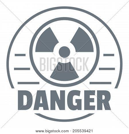 Radiation logo. Simple illustration of radiation vector logo for web