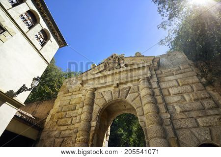 Entrance Way With Gateway Arch And Brick Pattern
