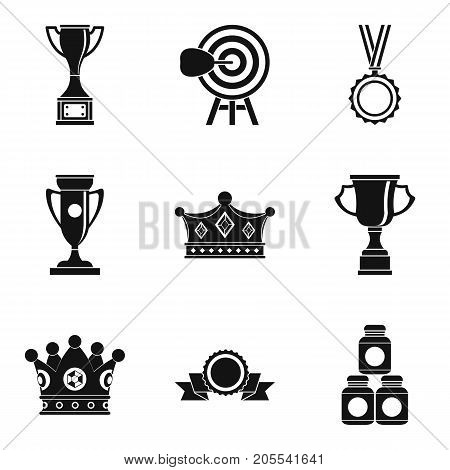 Exalted icons set. Simple set of 9 exalted vector icons for web isolated on white background