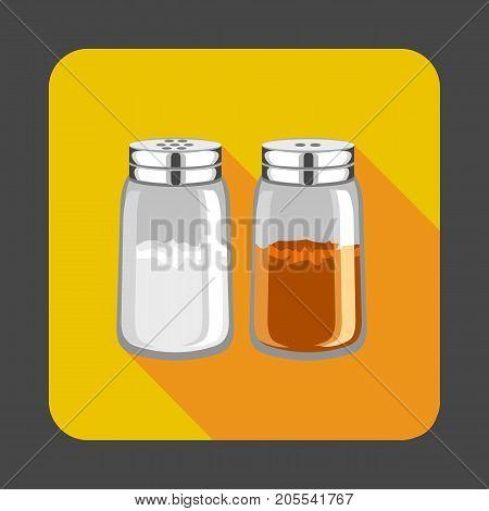 Salt, pepper concept background. Cartoon illustration of salt, pepper vector concept background for web design