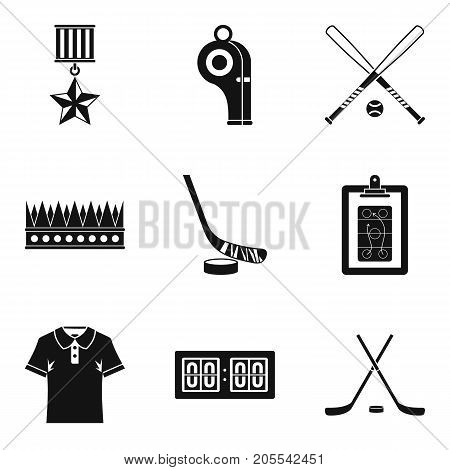 Score icons set. Simple set of 9 score vector icons for web isolated on white background
