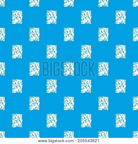 Crumpled paper pattern repeat seamless in blue color for any design. Vector geometric illustration