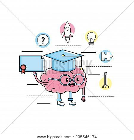 set creative process and brainstorm invention vector illustration