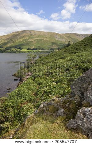 Ullswater from Hallin Fell the Lake District Cumbria England.