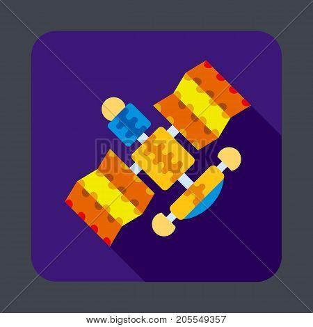 Satellite concept background. Cartoon illustration of satellite vector concept background for web design