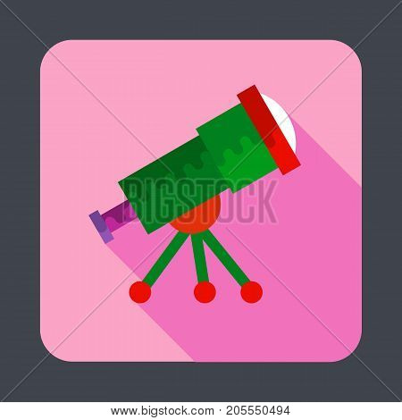 Telescope concept background. Cartoon illustration of telescope vector concept background for web design