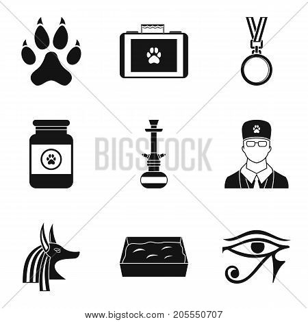 Worship cat icons set. Simple set of 9 worship cat vector icons for web isolated on white background