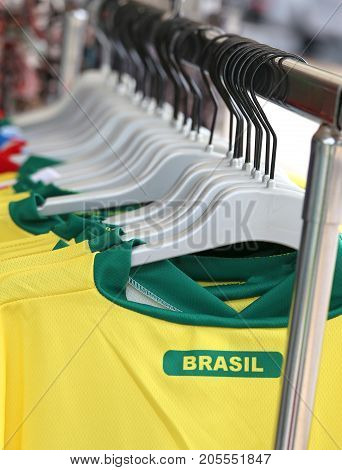 Many T-shirt With Text Brasil For Sale