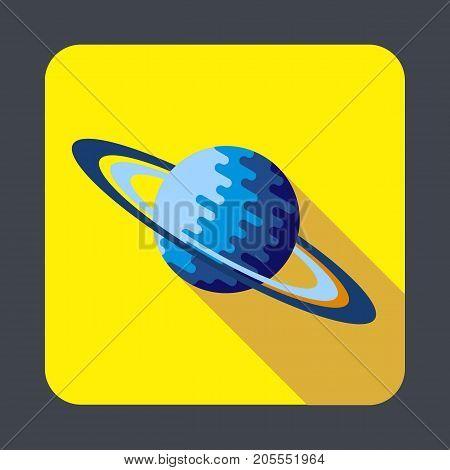 Saturn planet concept background. Cartoon illustration of saturn planet vector concept background for web design