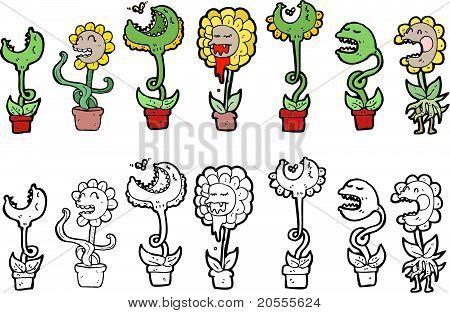 Carnivourous Plants Cartoon