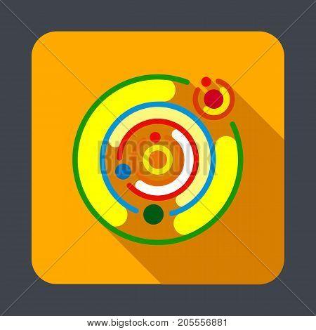 Solar system concept background. Cartoon illustration of solar system vector concept background for web design