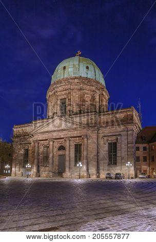 St. Elizabeth's is a Roman Catholic church in Nuremberg Germany. Evening