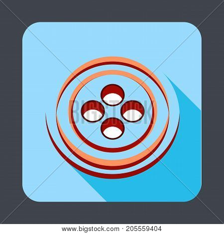 Button clothes concept background. Cartoon illustration of button clothes vector concept background for web design