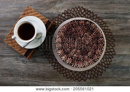 Big Chocolate Cake Torte And Whipped Cream