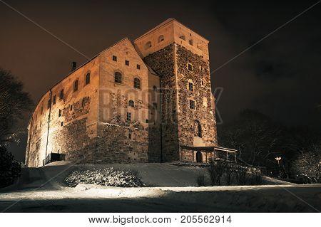Turku Castle At Night
