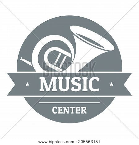 Musical instrument trumpet logo. Simple illustration of musical instrument trumpet vector logo for web
