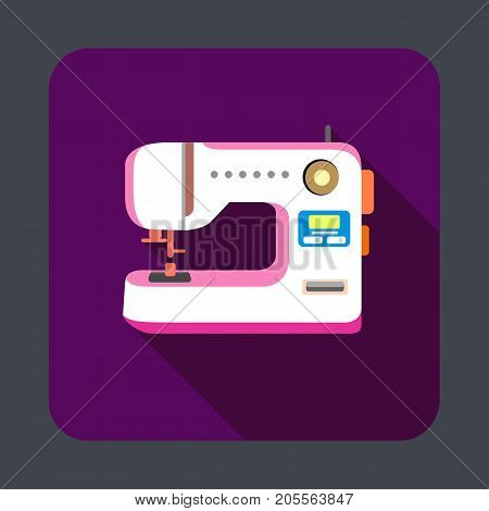 Sewing machine concept background. Cartoon illustration of sewing machine vector concept background for web design