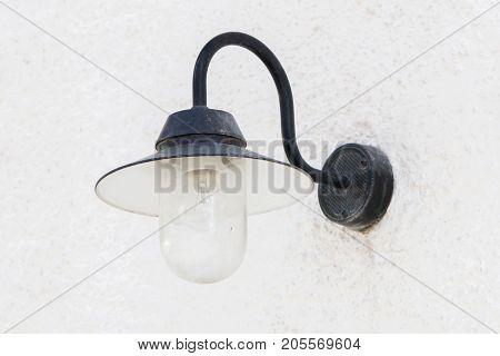 Vintage Looking Metal Lantern With Modern Lamp