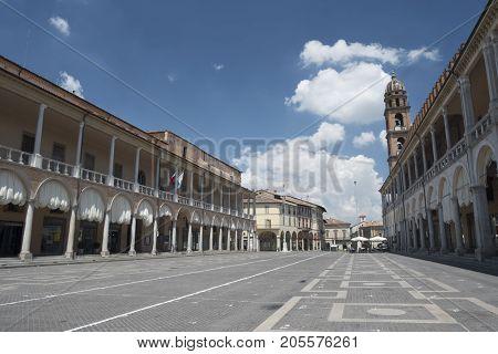 Faenza (Forli Cesena Emilia Romagna Italy): exterior of historic buildings in the main square of the city Piazza del Popolo