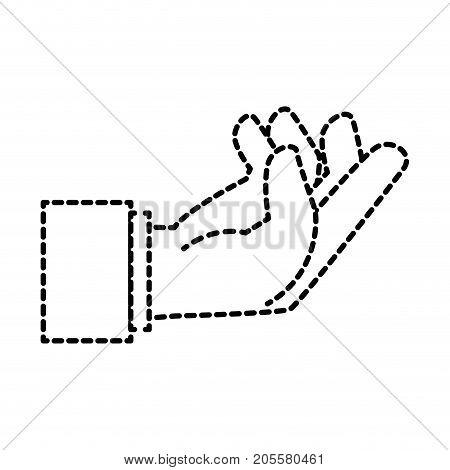 human hand catching icon vector illustration design