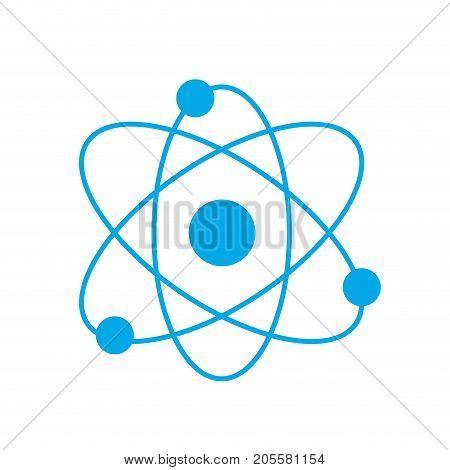 silhouette physics orbit chemistry science education vector illustration