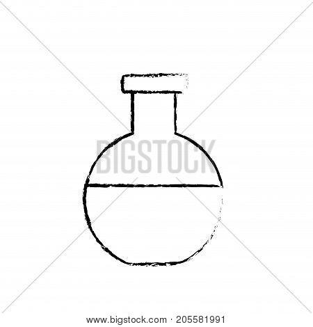 figure erlenmeyer flask to lab chemical design vector illustration