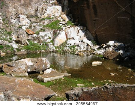 Little lake at Penteli mountain Athens Greece