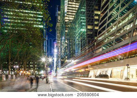 Midtown Manhattan: Skyscrapers, Street, People