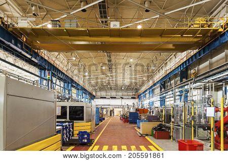 Production Line Gantry Pedestrian Walkway - well - organised factory