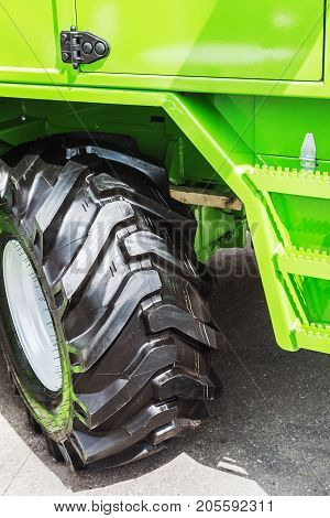 tire wheel of the tractor or other construction equipment with great tread